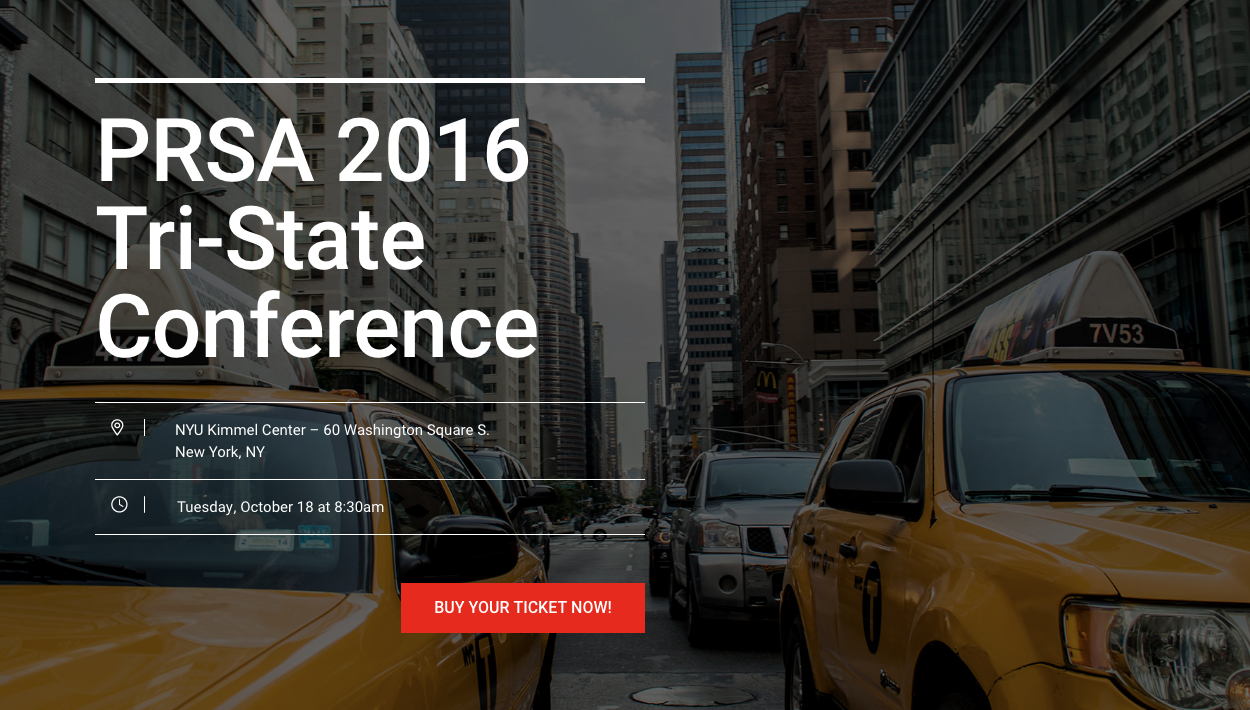 2016 PRSA Tri-State Conference Oct 18th, 2016
